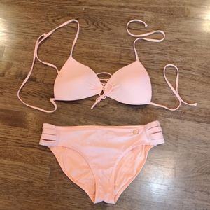 Body Glove Strappy Orange 2 Piece Bikini XL